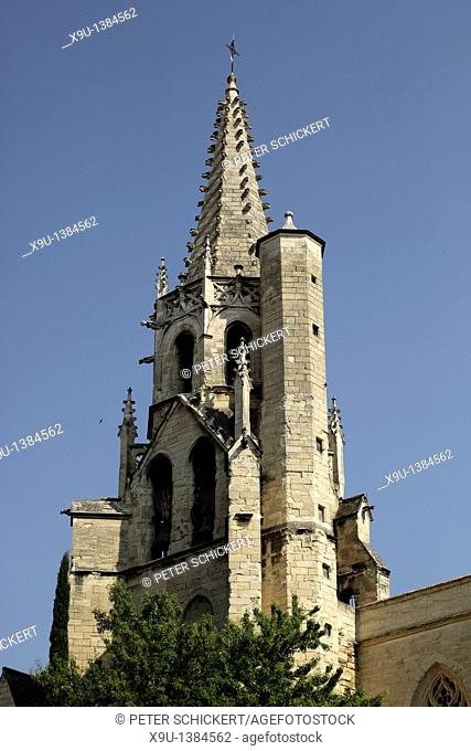 Saint-Pierre church tower in Avignon, Provence, France, Europe