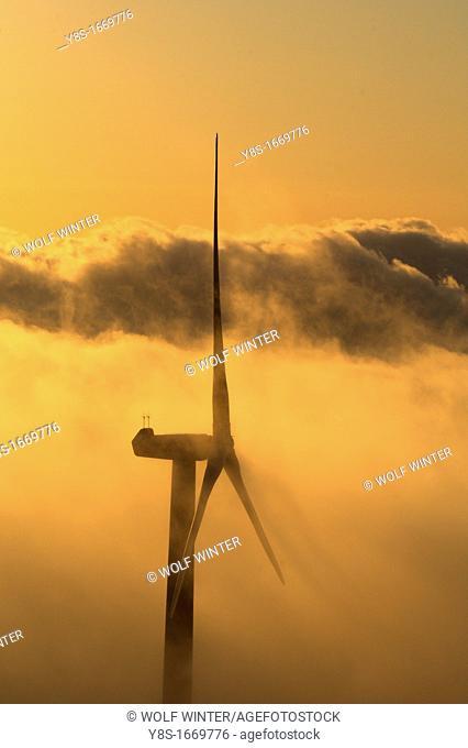 Windfarm, Tortosa, Catalonia, Spain