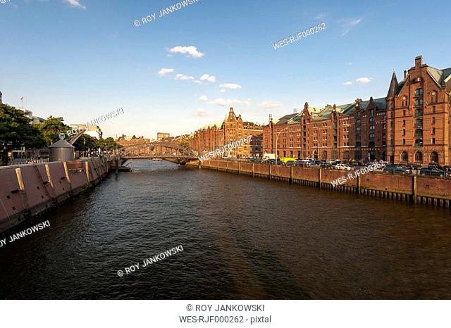 Germany, Hamburg, Old Warehouse District, View of the Zollkanal