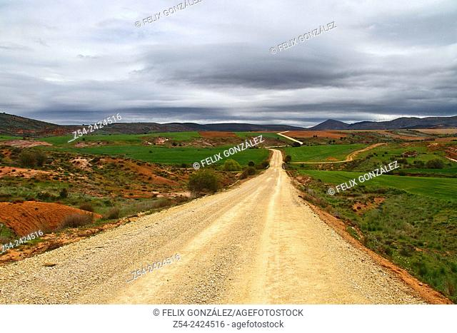 Path near Tiermes, Segovia, Castile and Leon, Spain