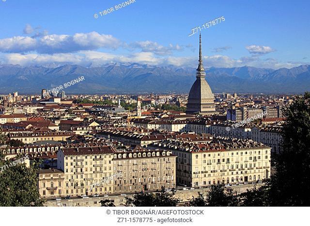 Italy, Piedmont, Turin, Mole Antonelliana, general view, skyline
