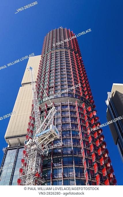 General views of the Barangaroo development project showing the progress which has been made including residential apartments