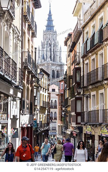 Spain, Europe, Spanish, Toledo, World Heritage Site, historic district, belltower, Primate Cathedral of Saint Mary of Toledo, Catedral Primada Santa María