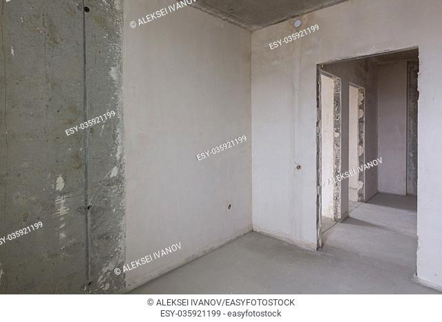 The layout of the apartment in the new building, the doorways to the rooms