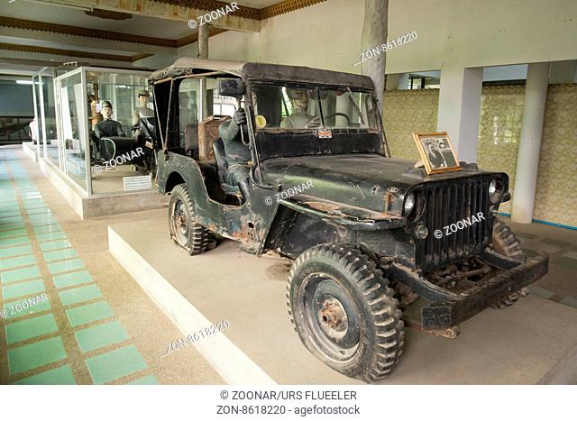 the World War 2 Museum at the River Kwai of the Burma-Thailand Railway in the City of Kanchanaburi in Central Thailand in Southeastasia
