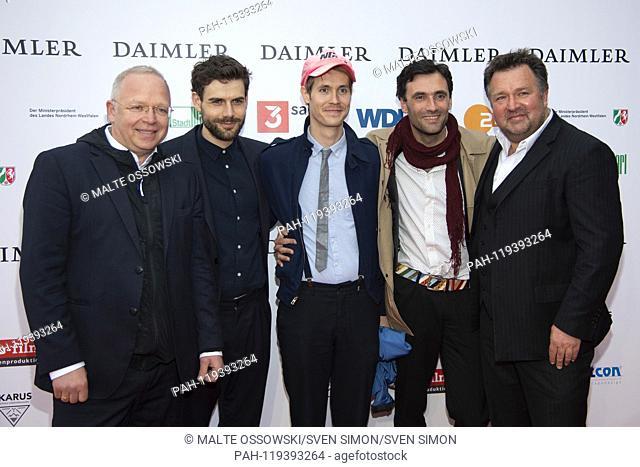 from left: Christian BEETZ, Moritz RIESEWIECK, author, director, Hans BLOCK, author, director, Georg CHANTSCHENTHALER, producer, xxxx Red Carpet