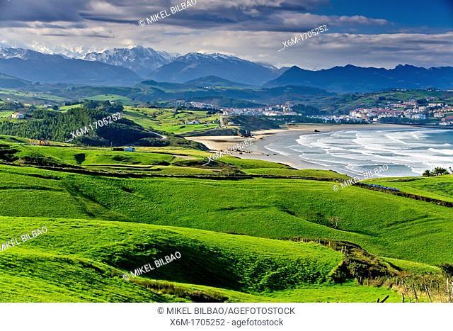 San Vicente de la Barquera village  Cantabria, Spain