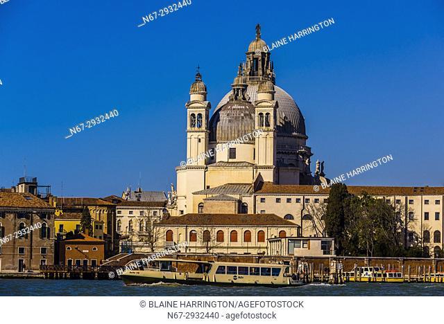 Backside view of the Basilica di Santa Maria della Salute, Venice, Italy