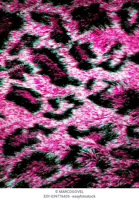 leopard leather texture with black and purple colors