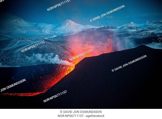 Volcanic eruption in South Iceland, image shot 30. Mars 2010