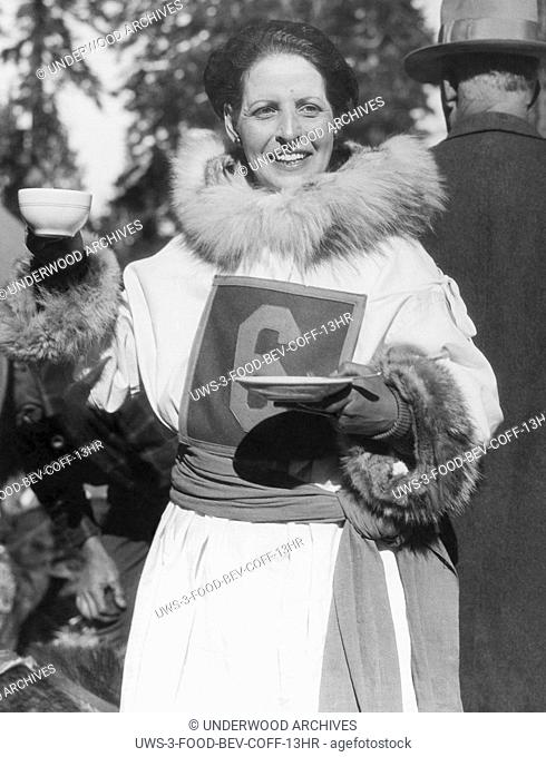 "Ashton, Idaho: c. 1928 Lydia """"Whistling Lyd"""" Hutchinson, sled dog racer who is noted for training her dogs by whistling at them rather than using vocal..."