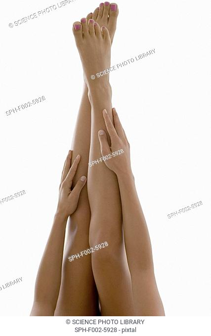 Woman's legs and arms
