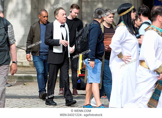 James Coden Films The Late Show with Sir Andrew Lloyd Webber this afternoon. During filming Corden dressed as various characters from Andrew Lloyd Webber...