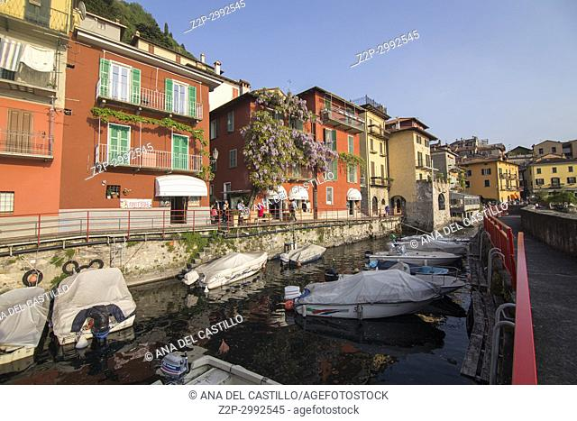Varenna village in Como lake Lombardy Italy