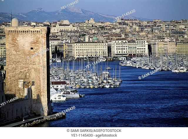 Entrance to the Old Port of Marseille, France