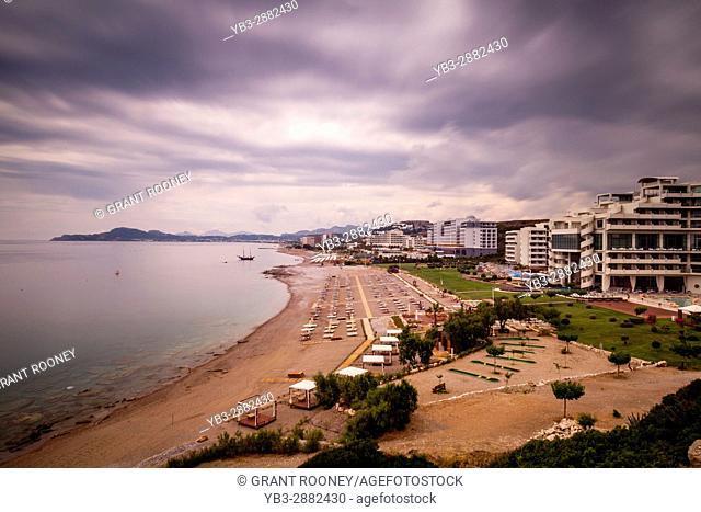 Beachfront Hotels, Kallithea Bay, Rhodes, Greece