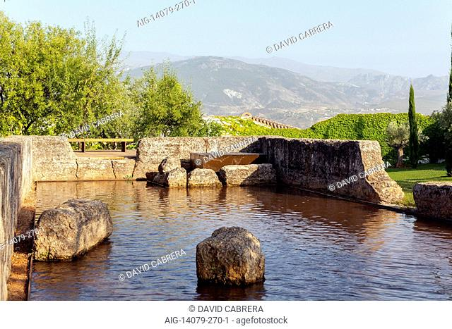 THE ALIXARES archaeological garden in San Jose Cemetery. GRANADA, SPAIN