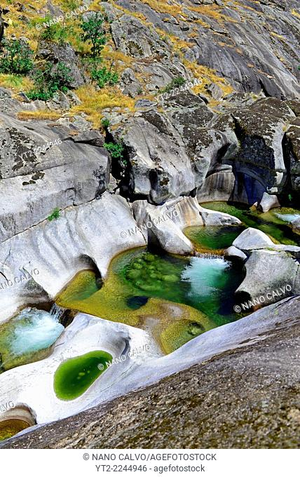 Jerte River pools (Los Pilones del Jerte) in Hell's Throat (La Garganta del Infierno), Caceres, Spain