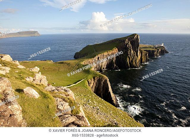 Nest Point lighthouse in Skye Island, Argyll and Bute, Scotland