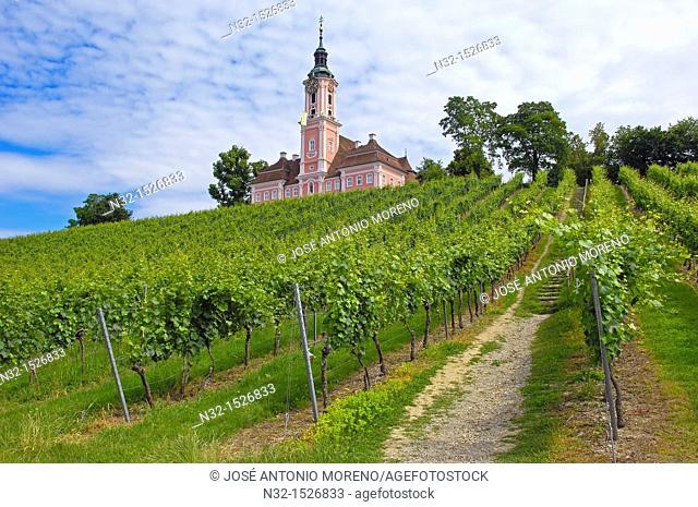 Birnau, Monastery Birnau, Birnau sanctuary, Marian pilgrimage church, Baden-Wuerttemberg, Germany, Lake constance, Bodensee, Europe