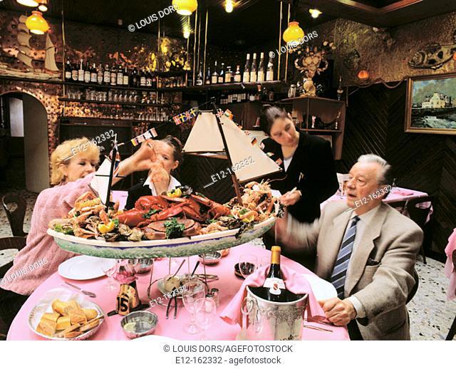 Dinner at restaurant. Le Touquet-Paris-Plage. France