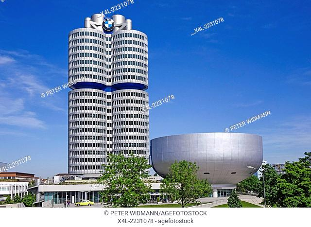 BMW-Museum and BMW Headquarters, Munich, Bavaria, Germany, Europe