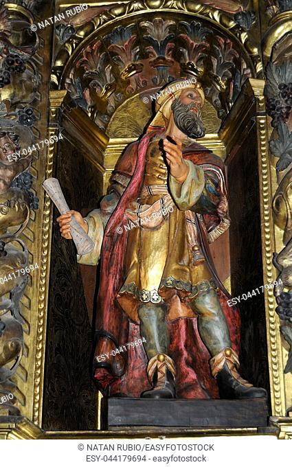 Sculpture, altarpiece, Cadaques Church, Cadaques, Girona, Catalonia, Spain