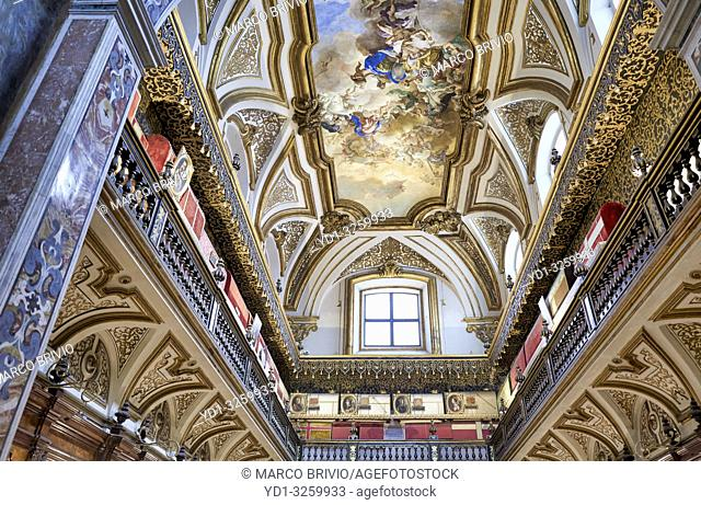 """Naples Campania Italy. The """"""""Sacred Relics Chamber"""""""", best known as â. œTreasure Chamberâ. . in San Domenico Maggiore, a Gothic"""