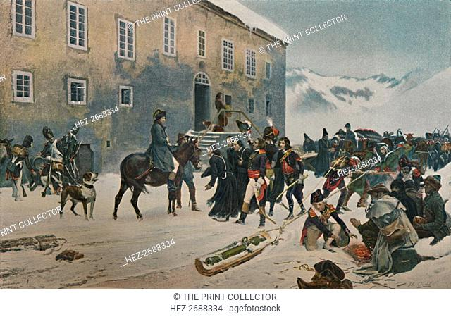 'Bonaparte Received By The Monks of Mount St. Bernard. Passage of the Alps, May 1800', (1896). Artist: Unknown