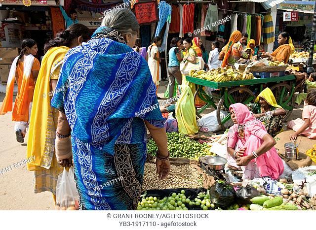 Fruit and Vegetable Market, Pushkar, Rajasthan, India