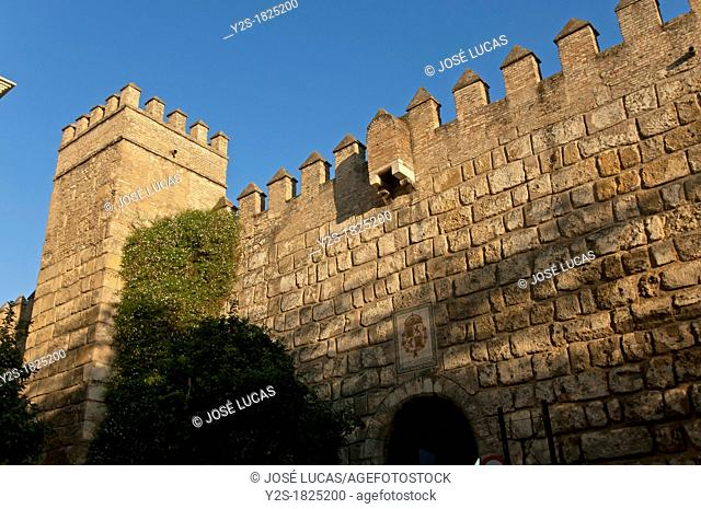 Royal Alcazar-walls, Seville, Spain
