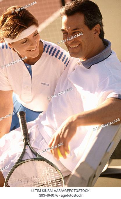 Couple, tennis