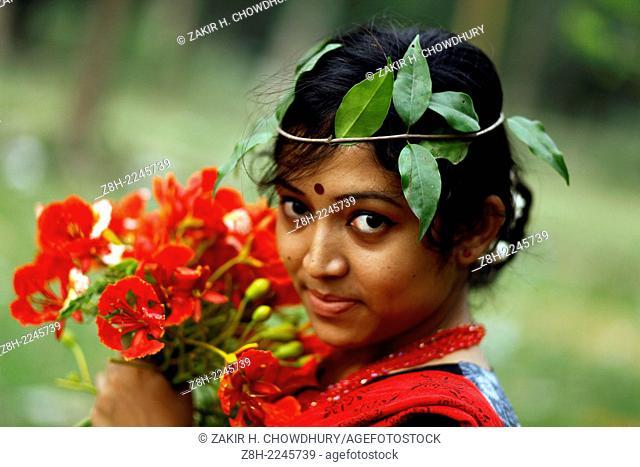 Portrait of woman, Dhaka, Bangladesh