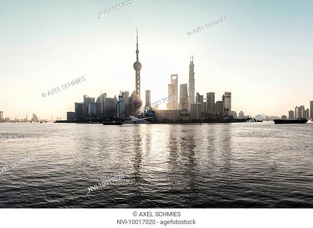 Cityscape, Skyline, sunrise, Shanghai, China