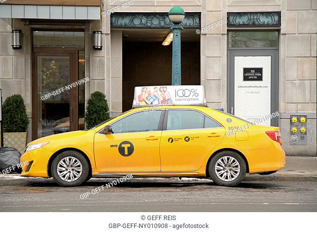 Taxi, Avenue of Americas, Central Park south, New York, United States