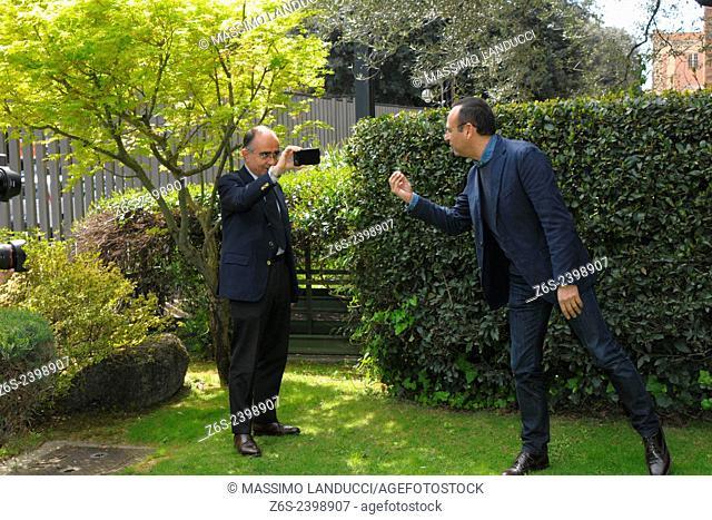 Carlo Conti; Conti; presenter TV ; celebrities; 2015;rome; italy;event; photocall; Si può fare