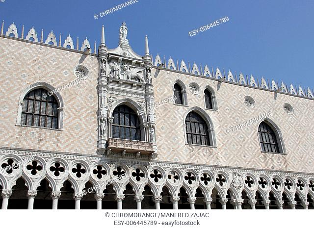 Doge s Palace, partial view, Venice, Italy
