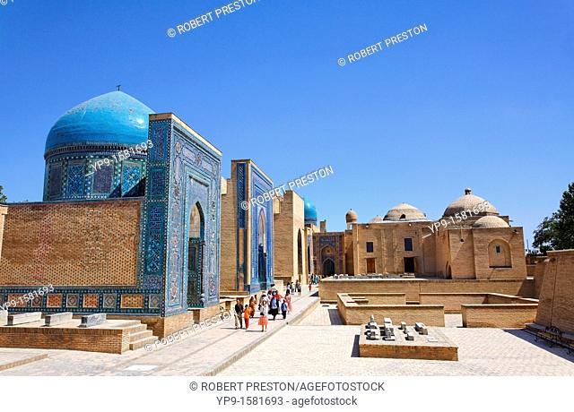 Shah-i-Zindi, the avenue of mausoleums, Samarkand, Uzbekistan
