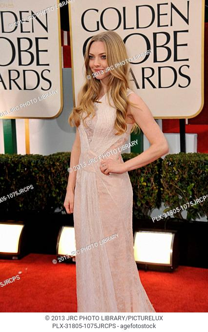 Amanda Seyfried at the 70th Golden Globe Awards at the Beverly Hilton Hotel. January 13, 2013 Beverly Hills, CA Photo by JRC / PictureLux