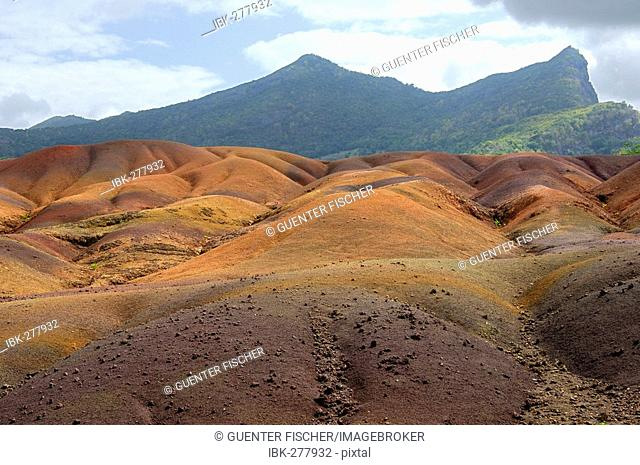 Colored earths of Chamarel, Mauritius