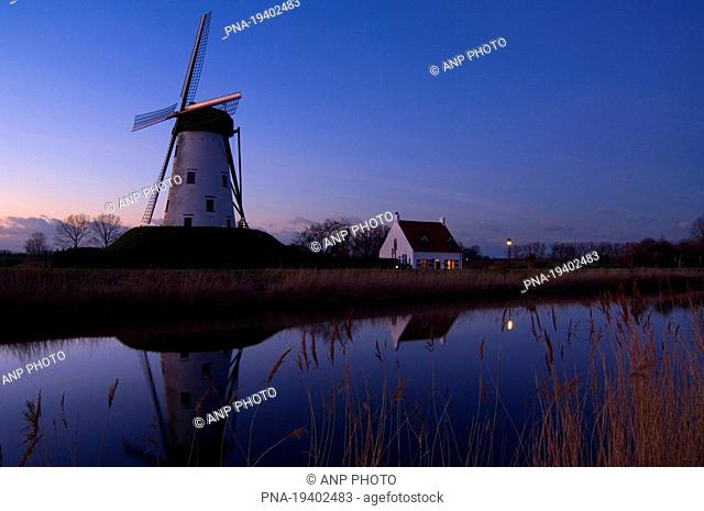 Schellemolen, Damse Vaart, Damme, Brugse Ommeland, Flanders, Belgium, Europe