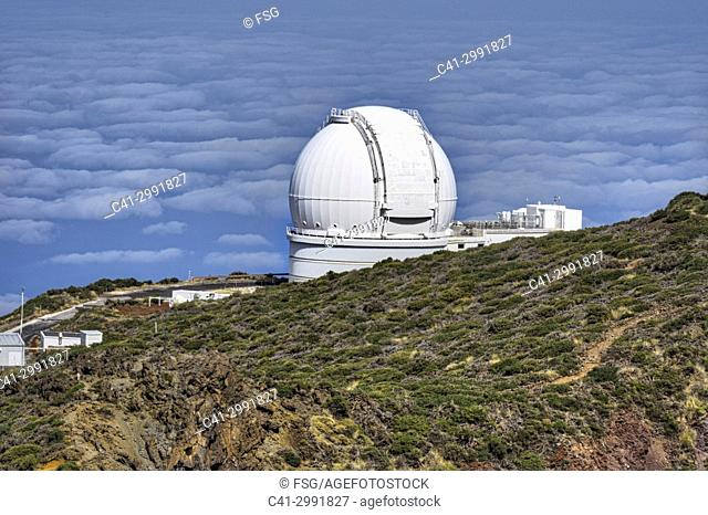 Roque de los Muchachos observatory. Island of La Palma. Canary Islands. Spain