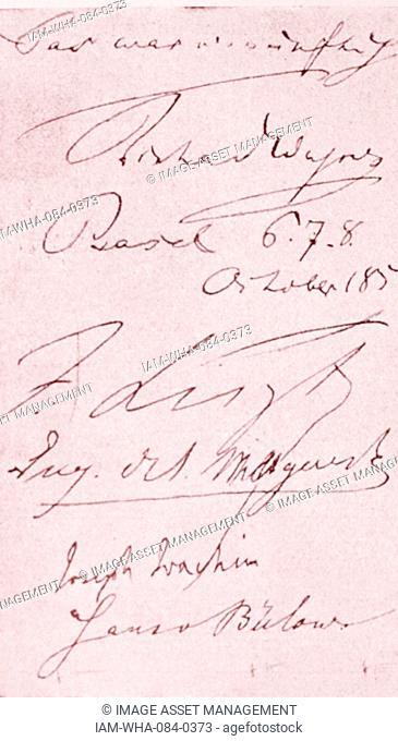 Work by Franz Liszt (1811-1886) Hungarian composer, virtuoso pianist, conductor, music teacher, arranger, philanthropist, author