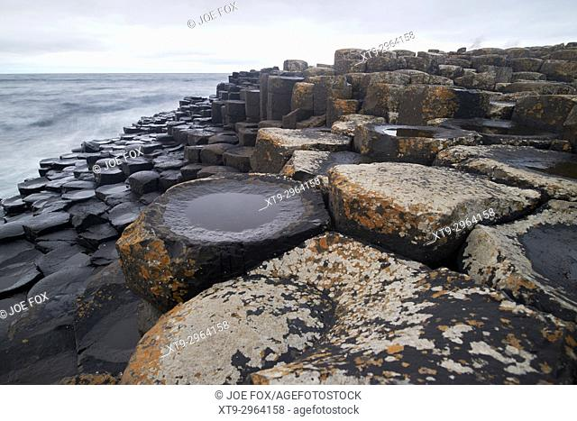 evening at the Giants Causeway county antrim northern ireland uk