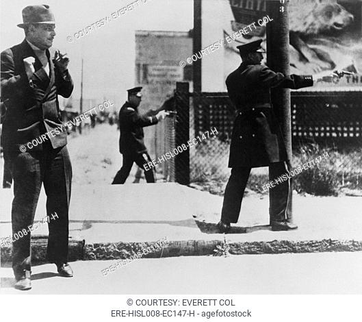 Bloody Thursday. The San Francisco dock strike. Provoked police to shoot into a crowd of strikers, killing two. In October