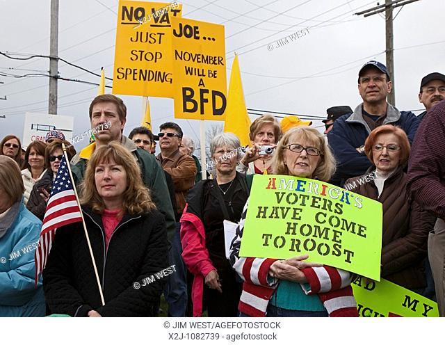 Clinton Township, Michigan - A Tea Party Express rally in suburban Detroit