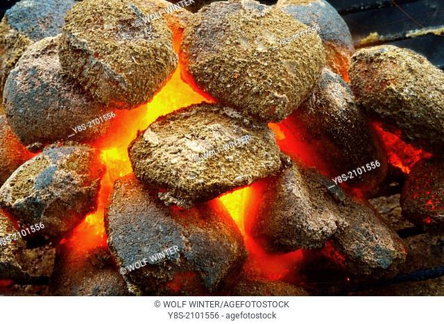 Glowing Briquettes