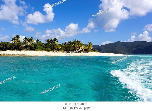 Ocean waves at tropical beach