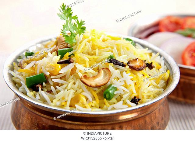 Vegetable Pulao, Indian Food