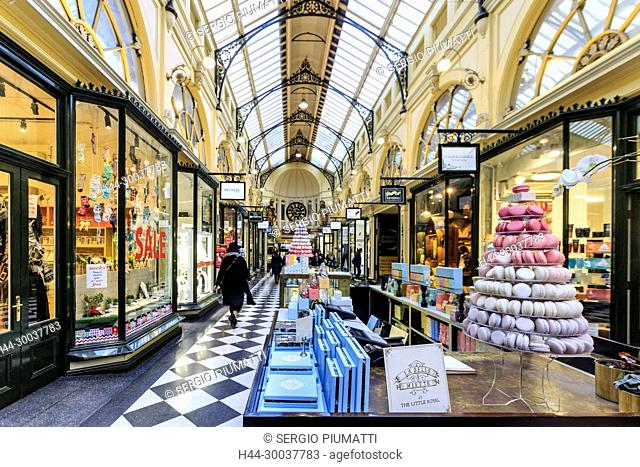 Australia, Melbourne, Royal Arcade, central business district, historic shopping